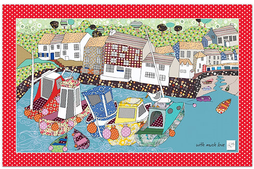 By the Harbour Wall | Tea towel