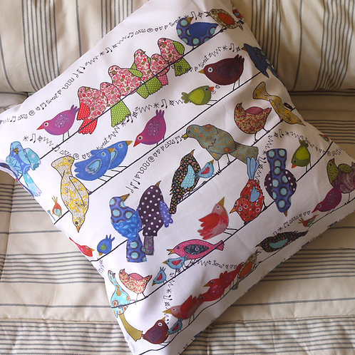Birds on a Wire  | Cushion (no pad)