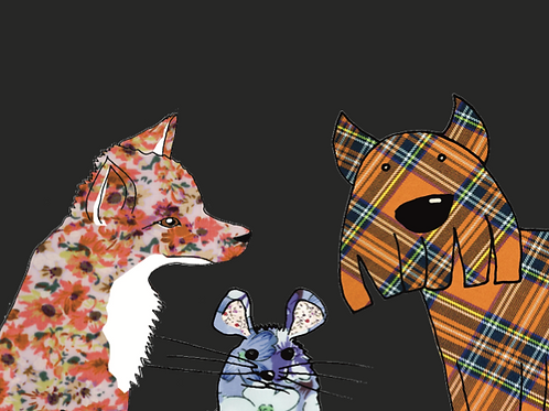 Fox Mouse Westie | Card