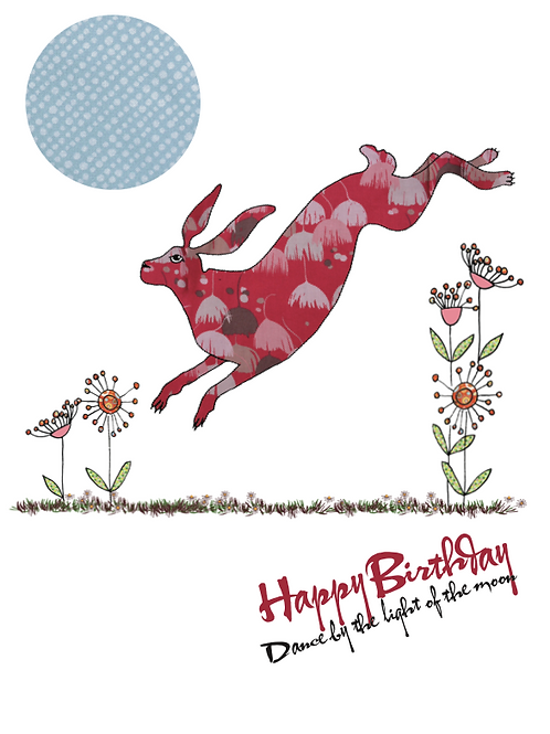 It's your birthday, dance by the light of the moon | Card