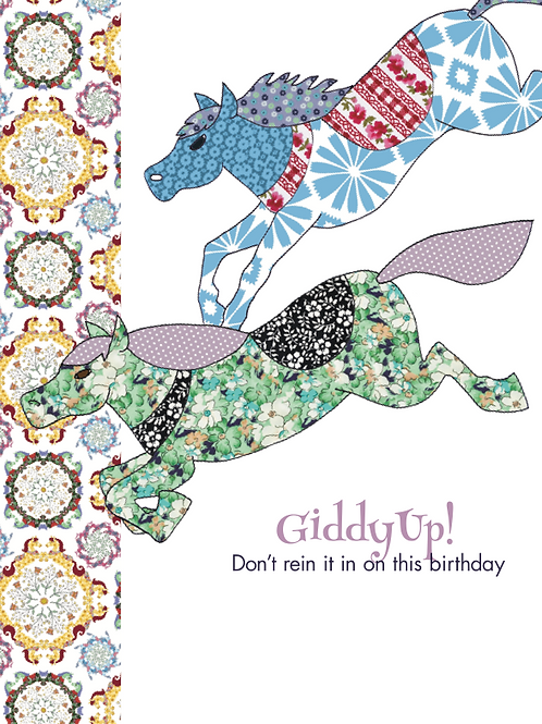 GiddyUp Don't rein it in this Birthday | Card