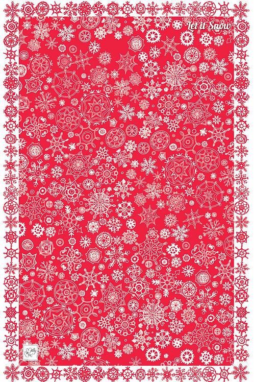 Let It Snow Red  | Tea towel