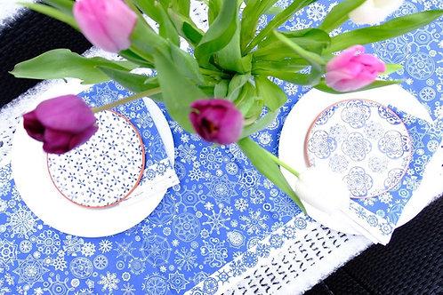 Blue Snow | Runner • Napkins • Tea Towel