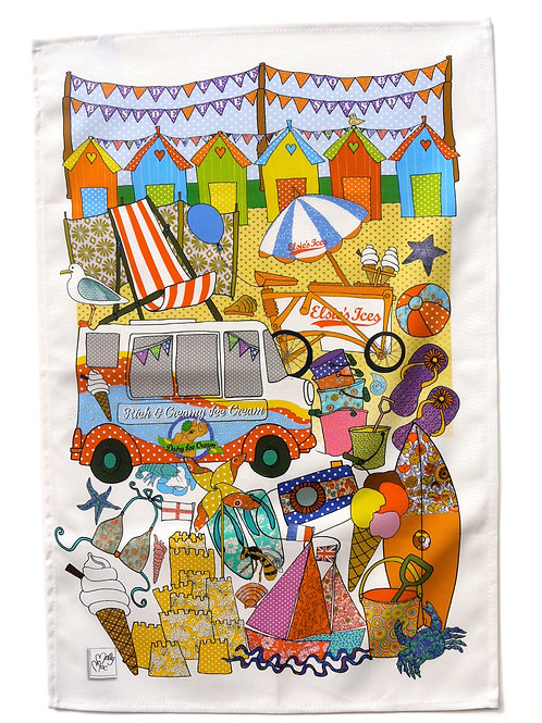 British Seaside | Tea towel