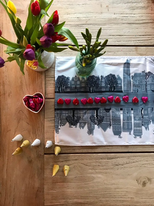 On the Street Dove Grey  | Table Runner