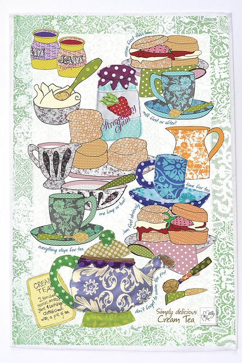 Seconds | British Cream Tea | Tea towel