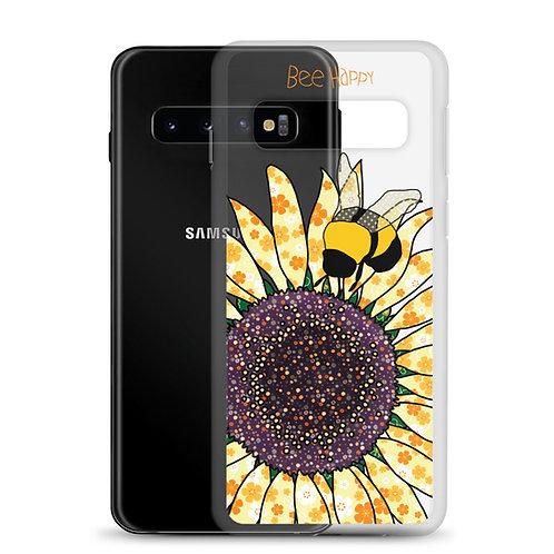 Bee Happy Sunflower | Samsung Case | 10 10+ 10e