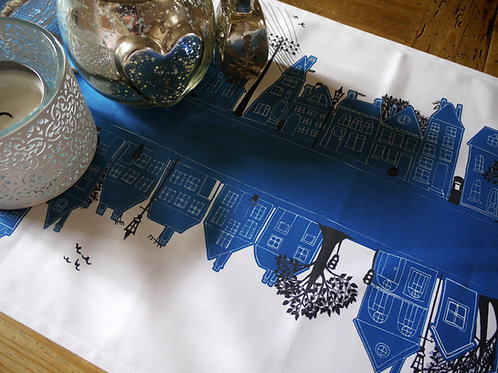 Seconds | On the Street Royal Blue  | Table Runner