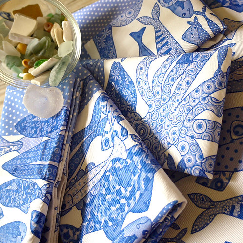 Something Fishy Blue | Napkins (2)