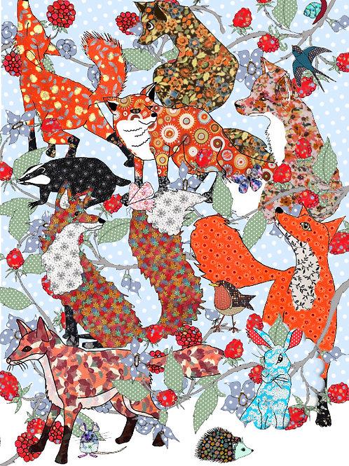 Foxes, Hidden Hare   Card