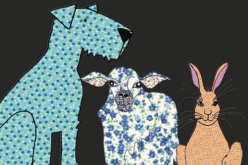 Dog Sheep Hare | Card
