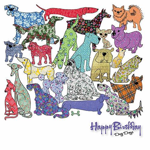 Happy Birthday Dog Days   Card