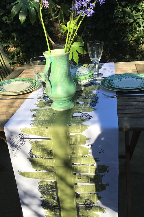 Seconds | On the Street Olive Green  | Table Runner