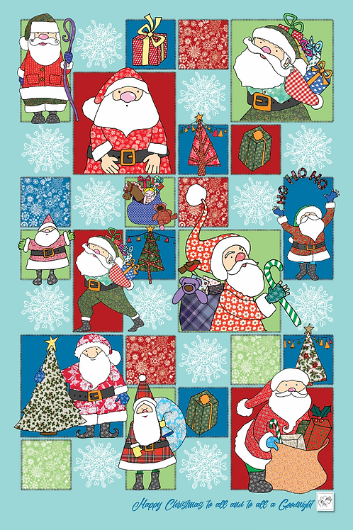 Seconds | Father Christmas  | Tea towel