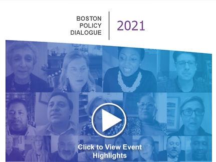 Boston Policy Dialogue 2021 video