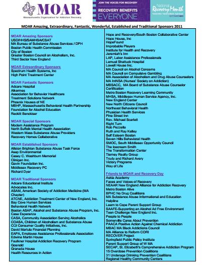 Thank You 2011 Sponsors