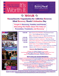 Recovery Month Schedule 2012
