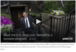 Drug czar approaches challenge from a different angle: As a recovering alcoholic