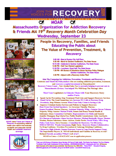 Recovery Month Flyer 2009