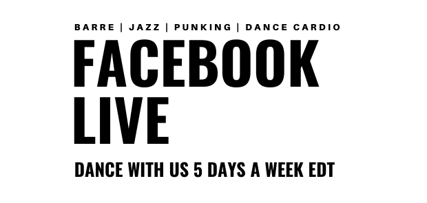 "Announcing Facebook Live Dance Schedule ""Rona can't stop us!"""