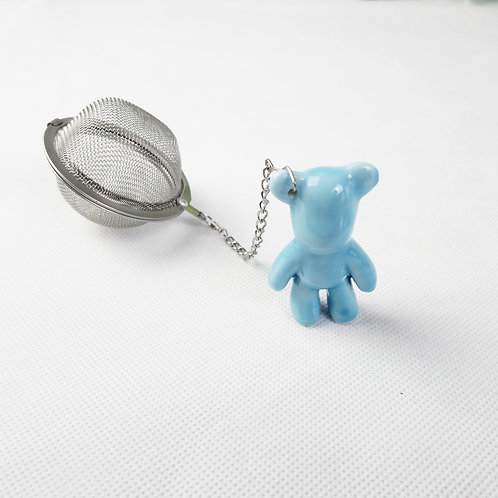 Porcelain Bear with Tea Strainer
