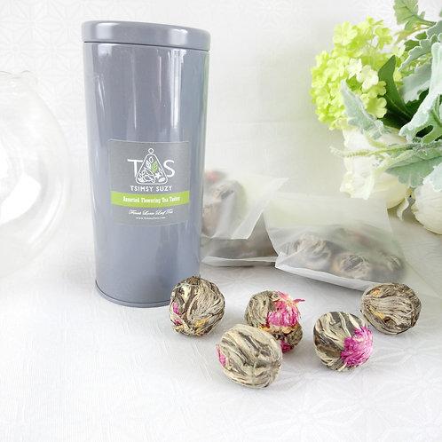 Assorted Flowering Blossom Tea With Airtight Tin