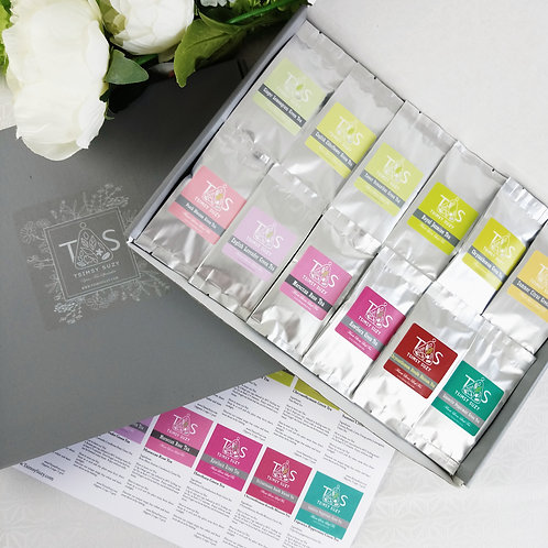 Brand New Summer Green Tea Blend Taster Set (12 packs