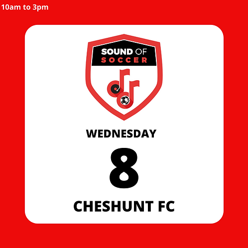 EASTER DAY PASS | CHESHUNT FC | 8TH APRIL