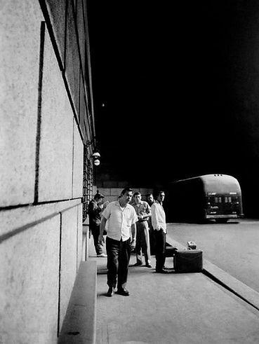 Wertheimer - July 1, 1956. Penn Station.