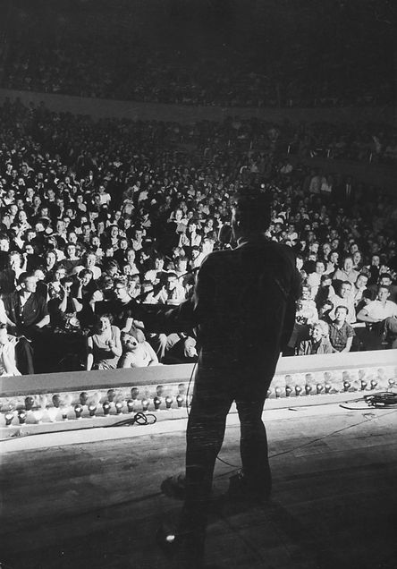 Municipal Auditorium in Amarillo, Texas. April 13. 1956.