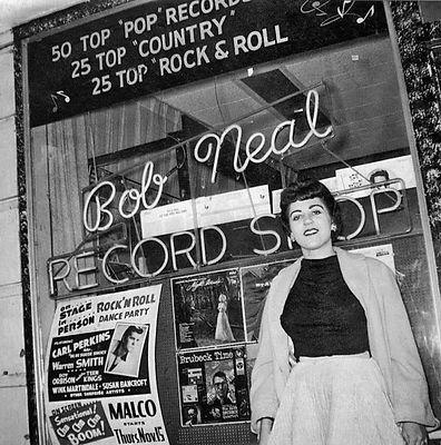 Kay Wheeler at Bob Neal´s record shop 1956..jpg