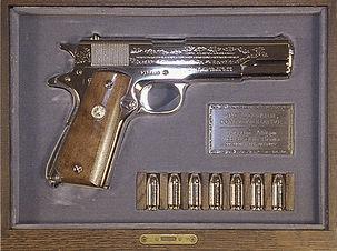 WWII Handgun - Gift to Nixon.