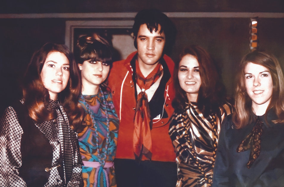 January 22, 1969 with back up vocalists Mary Holladay, Jeannie Greene, Donna Thatcher and