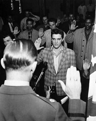 March 24, 1958. Presley sworn into the army.
