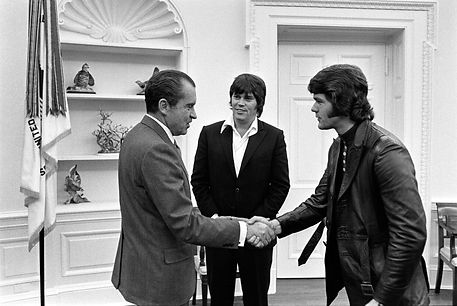 President Nixon Meeting with Elvis Presley, Sonny West and Jerry Schilling.