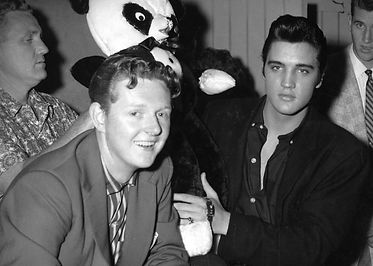 Elvis Presley with Vancouver disc jockey