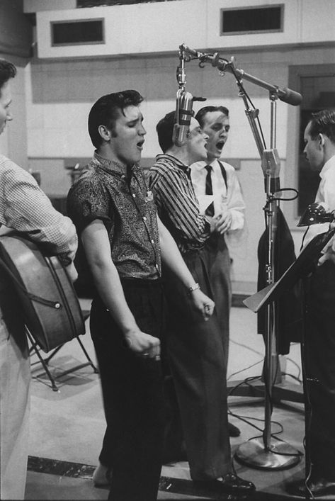 April 14, 1956. McGavock recording studi