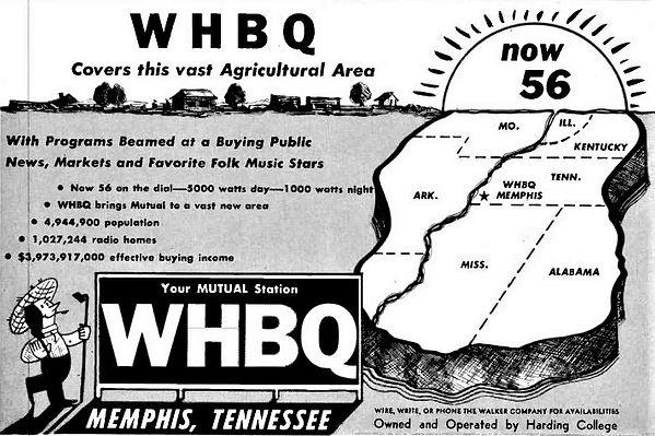 WHBQ ad 1949.