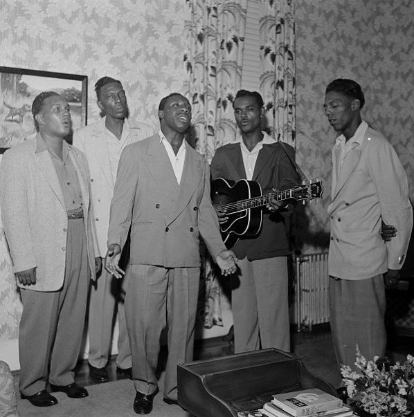 The Prisonaires perform at the home of T