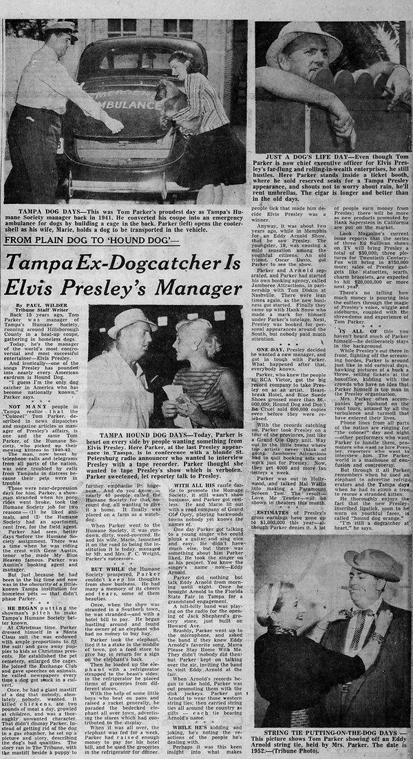 The Tampa Tribune. Sunday, November 11, 1956.