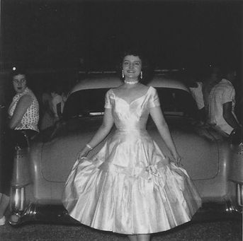 Hope Arkansas, June 7, 1955 with his '54 Cadillac and Shirley Searcy. Just before the fatal drive to Texarkana.