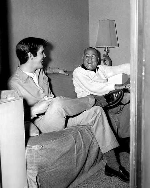 King Creole behind the scenes with director Michael Curtiz.
