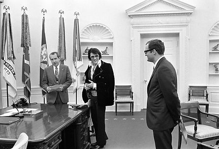 President Richard Nixon Meets with Elvis and Bud Krogh.