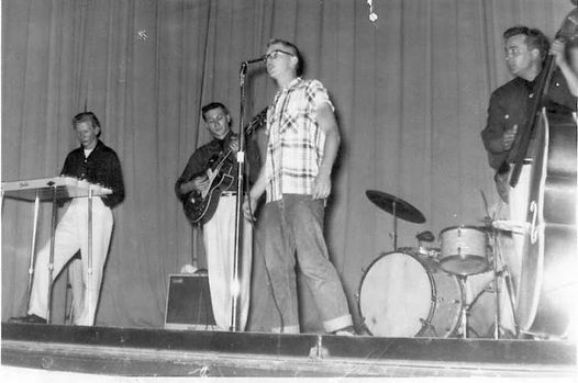 Cheesie Nelson - Pat Cupp's friend - with the Blue Moon Boys in 1955.