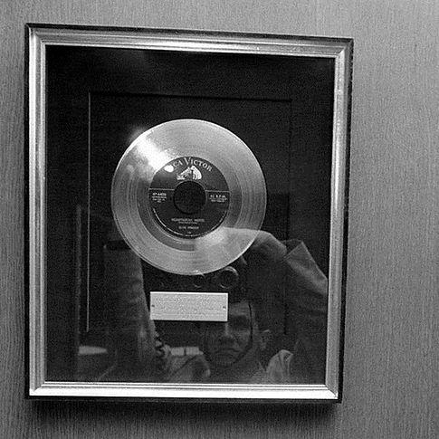 Gold disc Heartbreak Hotel July 4, 1956.