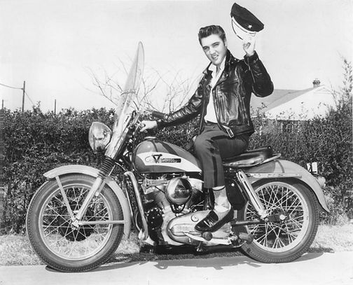 1956 Harley-Davidson KH on Getwell Rd.,