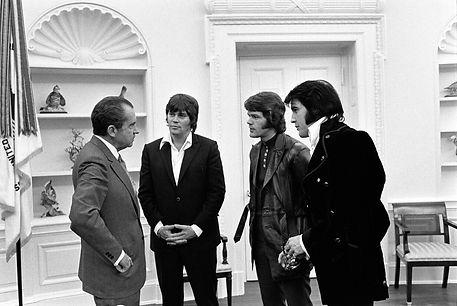President Nixon Meeting with Elvis Presley, Jerry and Sonny West.
