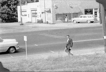 July 4 Elvis' dropped off the train and walked the last mile home, alone.