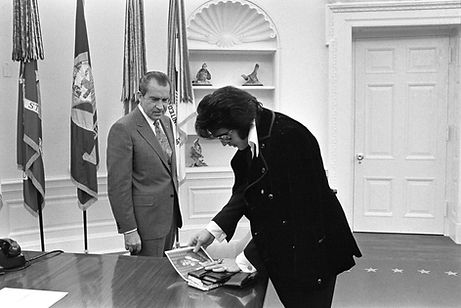 President Richard Nixon Meets with Elvis on December 21, 1970.