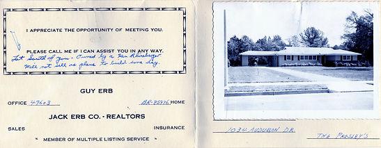 March 1956 Realtor card.